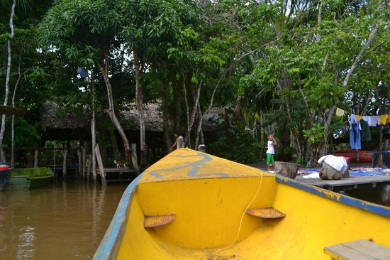 Orinoco Eco Camp: Coming up to the camp
