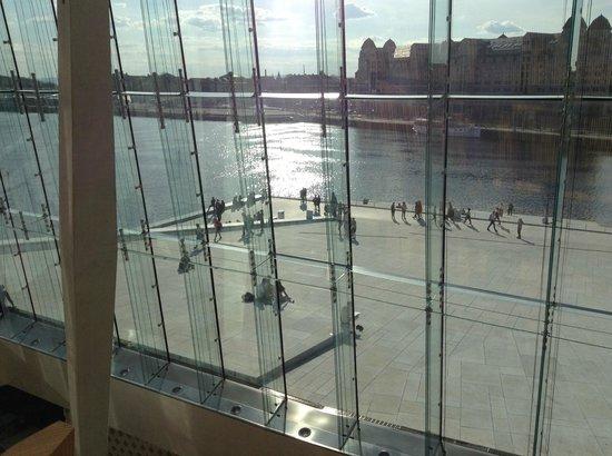 The Norwegian National Opera & Ballet: View toward harbour