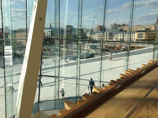 The Norwegian National Opera & Ballet: View toward city