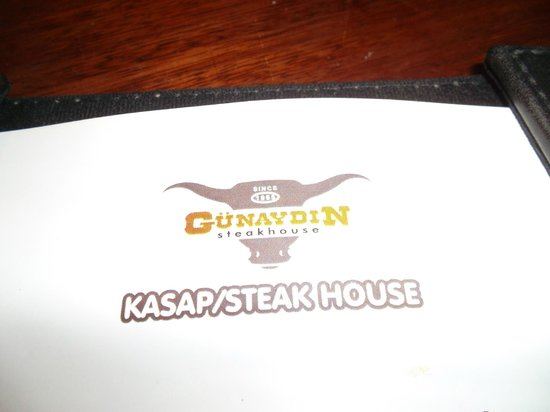 Gunaydin Kebap Restaurant: the menu
