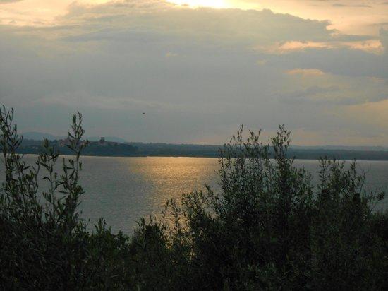 Fattoria il Poggio: camera vista lago