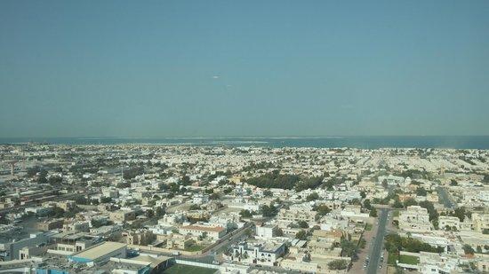 Al Salam Hotel Suites: Aussicht auf the world islands
