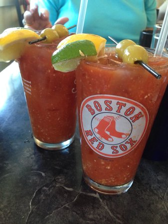 The Wicked Oyster : Spicy bloody Mary's are a great way to start the day!