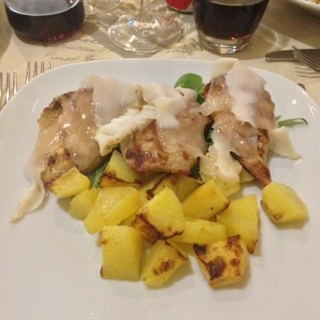 Osteria del Gusto: maiale con lardo senese e patate al forno
