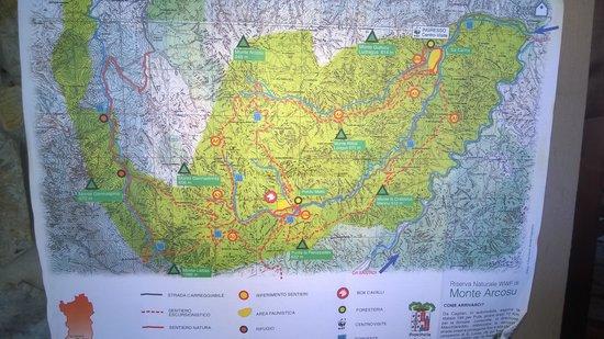 Monte Arcosu: mappa
