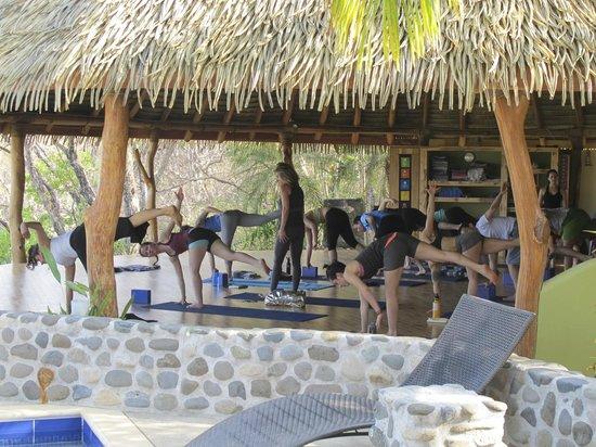 Costa Rica Yoga Spa: Yoga in the pavilion