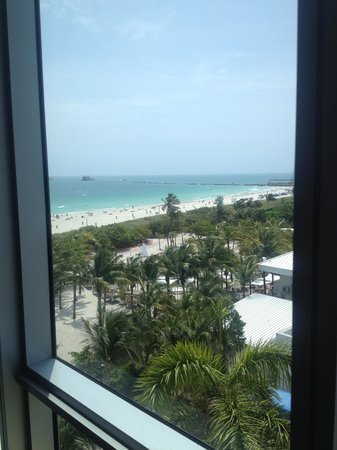 Hilton Bentley Miami/South Beach: View from the window of our third room