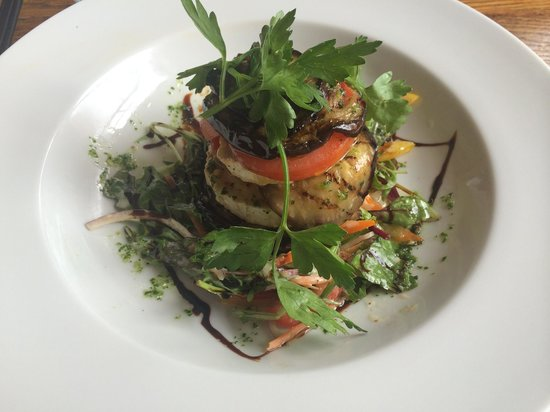 The Castle Inn Hotel: Aubergine and Goats Cheese stack. Very nice indeed