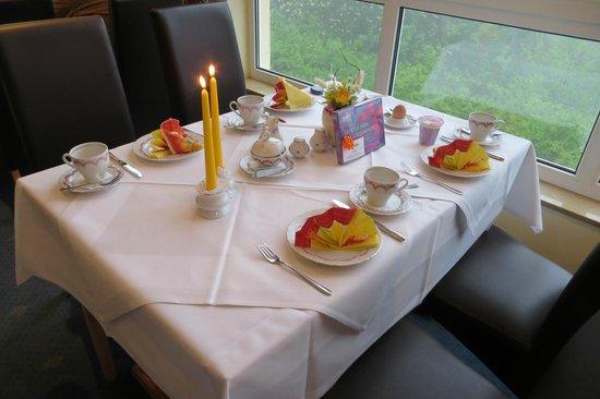 Hotel Am Wald: Geburtstagstisch