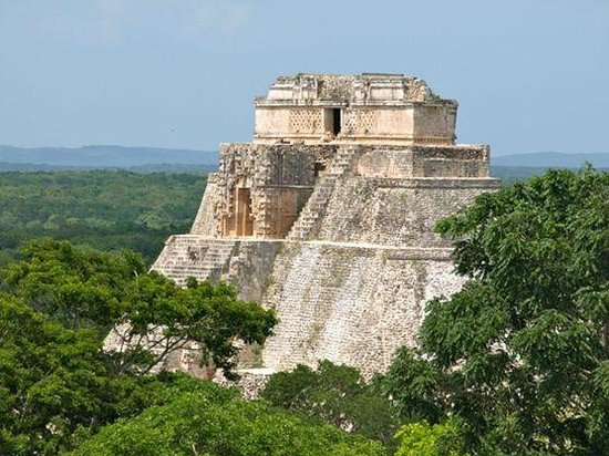 Templos de Uxmal: El Adivino from the top of the Great Pyramid