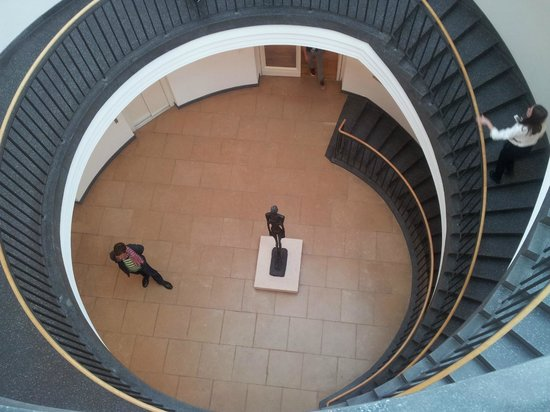 Museum Berggruen: There are three floors of Picasso's work accessed from the central stairway in the dome