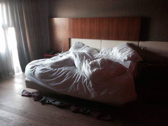 Pullman Barcelona Skipper: La cama comodísima y grande
