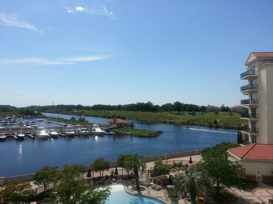 Marina Inn at Grande Dunes : View of the Marina, Intercoastal and Golf Course from our condo.  Peaceful!
