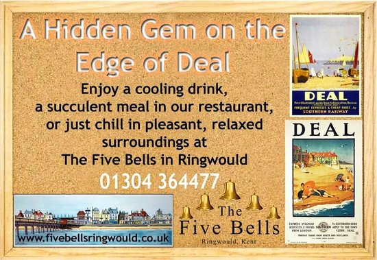 The Five Bells: A hidden Gem on the outskirts of Deal and Dover
