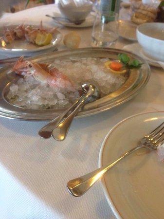 Ristorante Trattoria Nalin: Raw sashimi shrimps