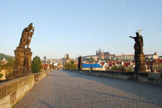 Charles Bridge: No shortage of statues here