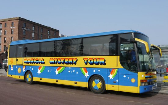 tour bus picture of beatles magical mystery tour liverpool tripadvisor. Black Bedroom Furniture Sets. Home Design Ideas