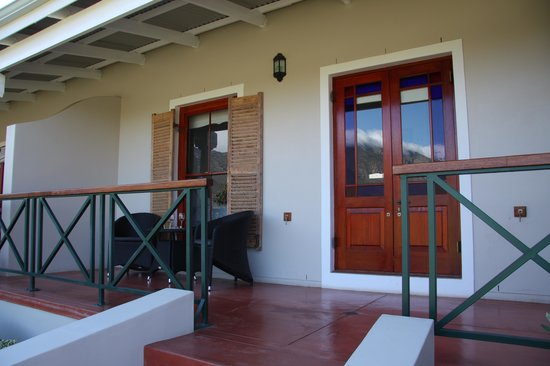 Montagu Vines Guesthouse : Garden Room's Private Terrace