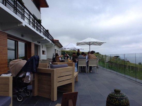 Hotel San Prudentzio: Terraza