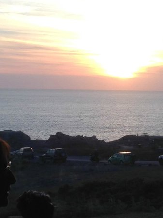 Corbiere Phare : View from the restaurant as sunset approaches