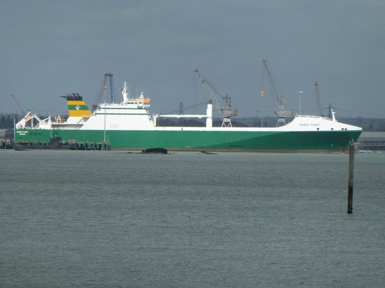 Hythe Ferry: Large tanker