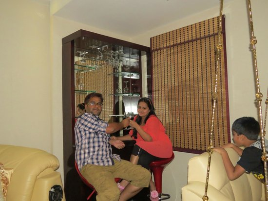 Hotel Intercity: Suresh and Sunita doing Cheers !!!