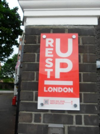 RestUp London: The sign outside of Rest Up.