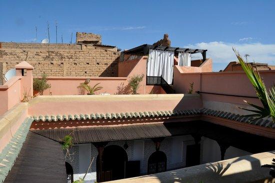 Riad Al Jana : vue de la terrasse