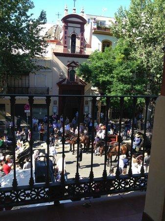Hotel Adriano Sevilla: Balcony View