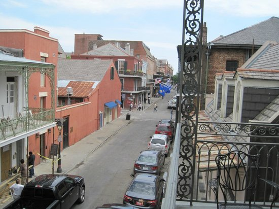 Bourbon Orleans Hotel : view from the balcony looking toward Royal Street
