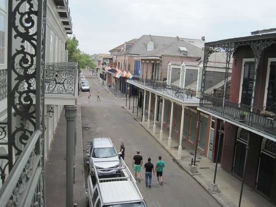 Bourbon Orleans Hotel: view from the balcony looking toward Bourbon Street