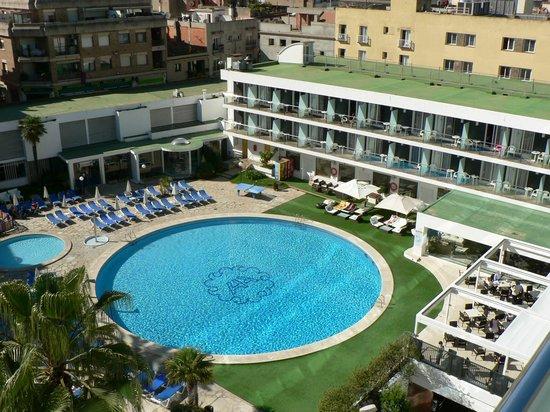 Hotel Anabel: Vue balcon