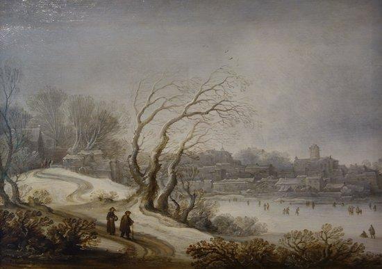 Frans Hals Museum: Pieter D. v. Santvoort: Winter Landscape