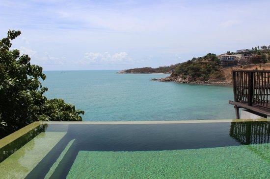 Six Senses Samui: Ocean front villa pool view