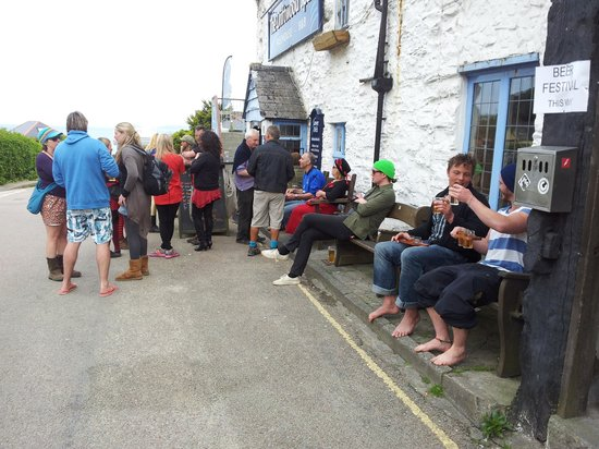 The Driftwood Spars B & B : Having fun at the Beer Festival