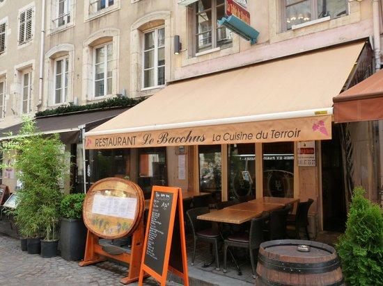 La Table de Bacchus: Restaurant von aussen