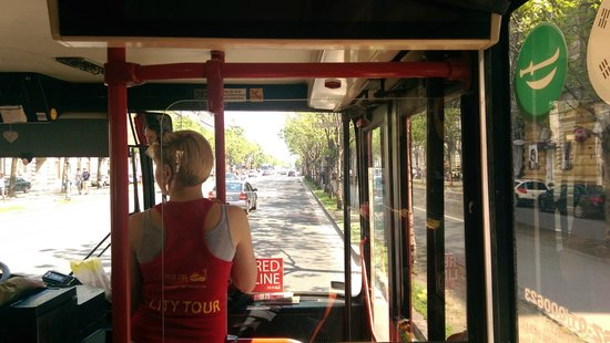 Giraffe Hop On Hop Off City Tour : inside the bus