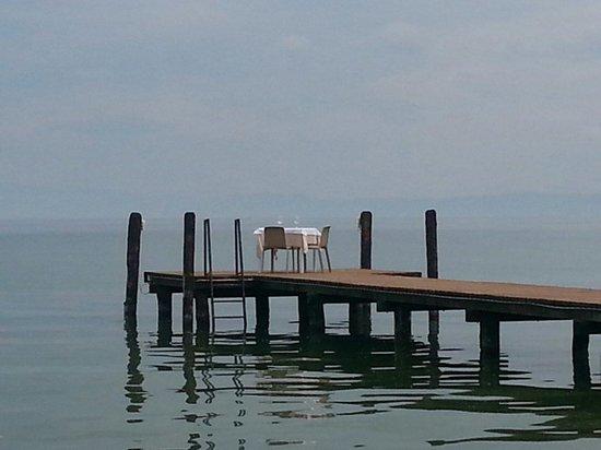 Ristorante Casa dei Pescatori: Tavolo per cena romantica sul pontile