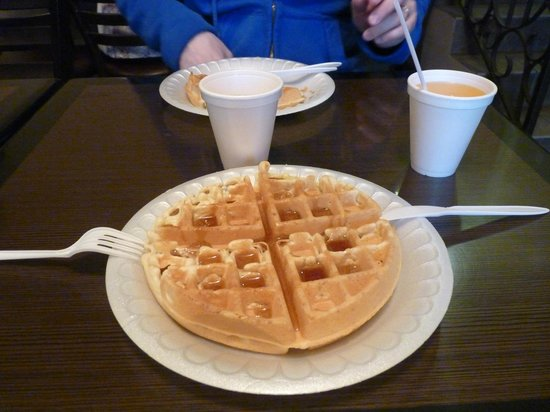 Hollywood Inn Express South : Gaufre du petit déjeuner