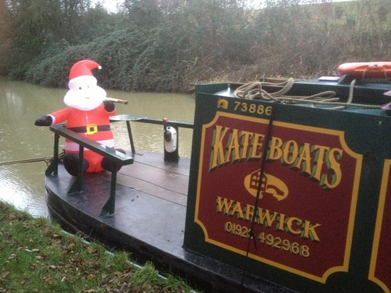 Warwickshire, UK: Good to have Santa along to help us out