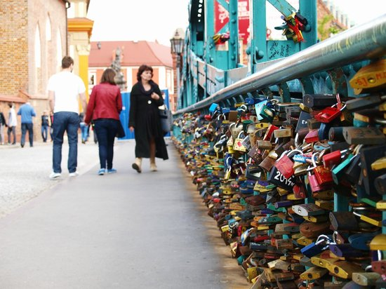 Padlocks on Tumski Bridge