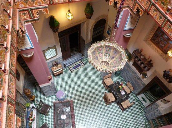 Riad La Bague de Kenza : Blick aus der 1.Etage herunter