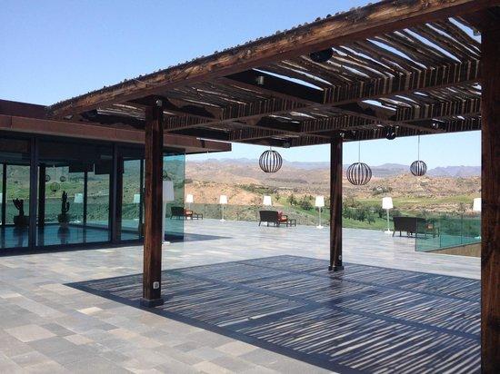 Sheraton Gran Canaria Salobre Golf Resort: terrasse au dessus du Spa
