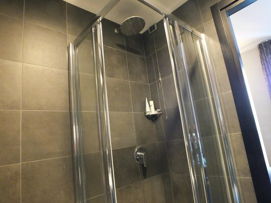 Hotel Five: Spacious shower.