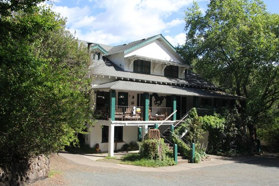 Mountain Home Ranch: This is the main house, with lovely rooms, a library and dining hall.
