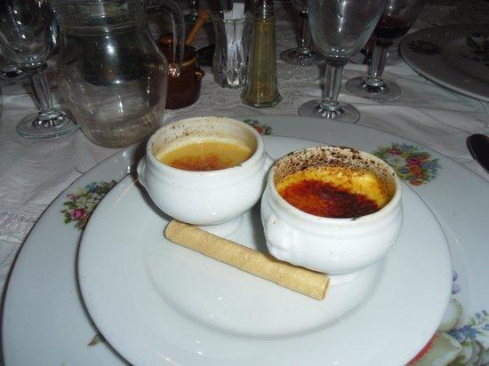 La Garenne: Creme caramel & Creme brulee