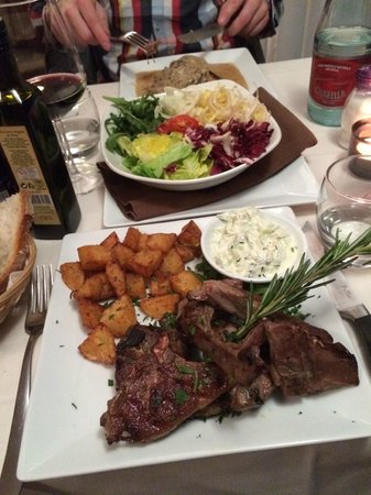 Prime Ristorante : Lamb on the front and beef behind