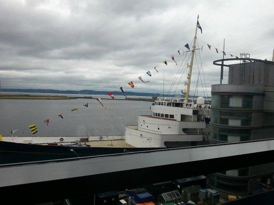 Royal Yacht Britannia: View before boarding