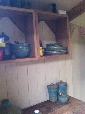 Wild Northumbrian Tipis and Yurts: Some of the items provided in the Shepherd's Hut