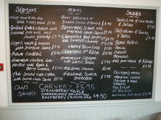 Tomich Cafe : Menu